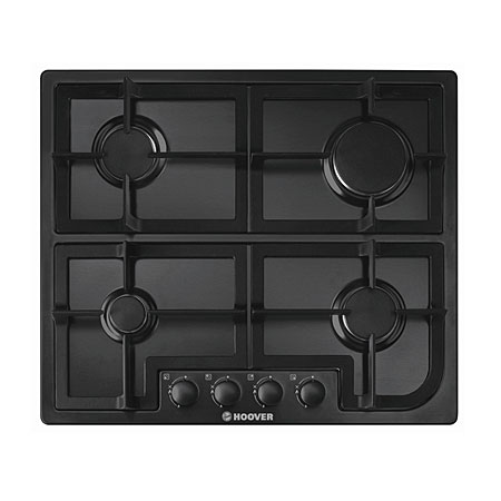 Hoover HGH64SCB, Gas Hob with Cast Iron Pan Supports.Ex-Display