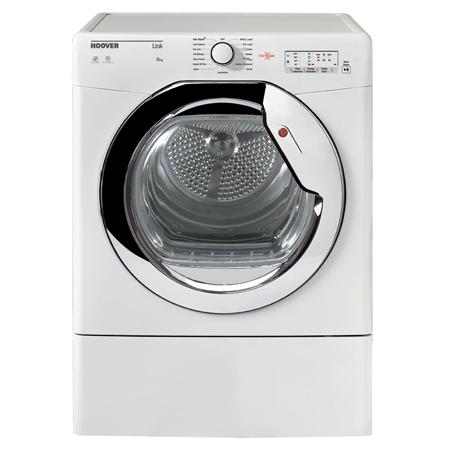 Hoover HLV8LCG, 8kg Vented Dryer White with Sensor