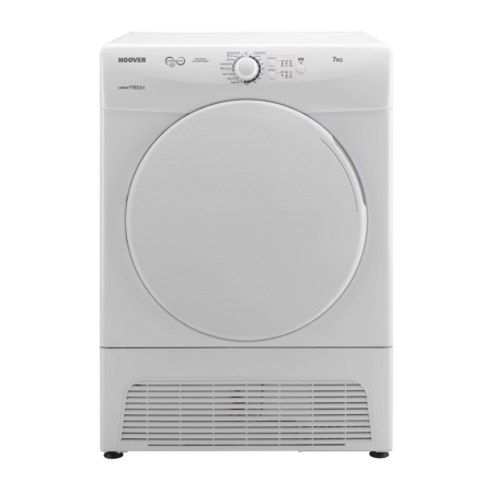 Hoover VTC570B, 7kg Condenser Dryer White with Sensor