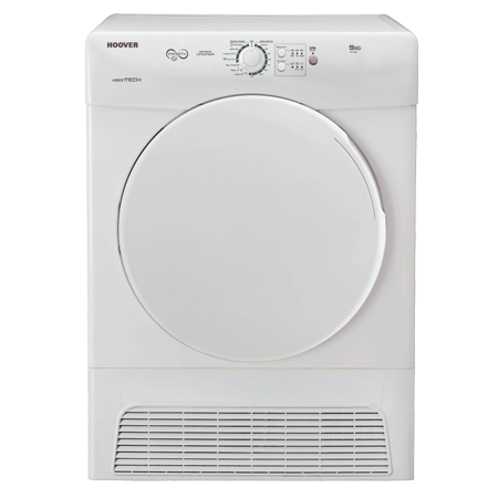 Hoover VTC590B, 9kg Condenser Tumble Dryer with 12 drying programmes B Energy Rating