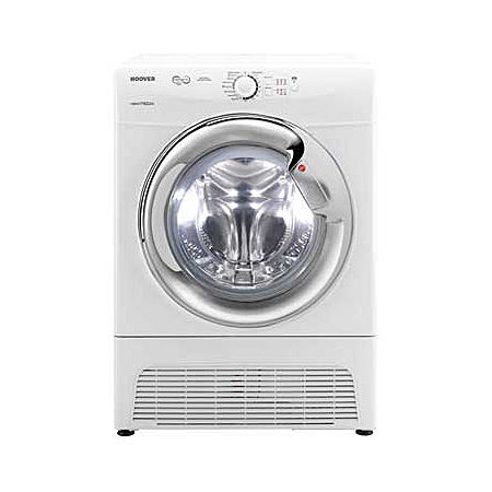 Hoover VTC781NBC, Freestanding 8kg Condenser Dryer WhiteChrome
