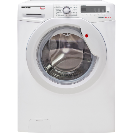 Hoover WDXC4851, Freestanding 8kg 1400rpm Washer & 5 kg Dryer in White with Dial Controls