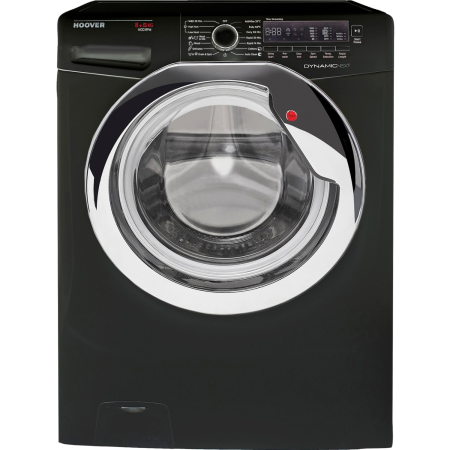 Hoover WDXC485C1B, Freestanding 8kg 1400rpm Washer & 5 kg Dryer in Black with Dial Controls