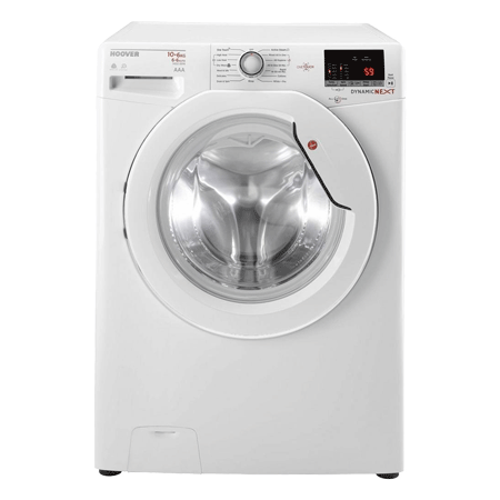 Hoover WDXOC4106A, 10kg Washer / 6kg Dryer, 1400 spin Washer Dryer - White - A Energy Rated with Smart Connect.