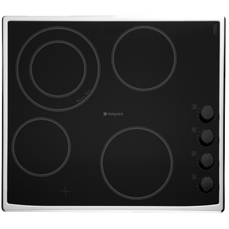 Hotpoint CRM641DX, 60cm Electric Ceramic Hob in Black