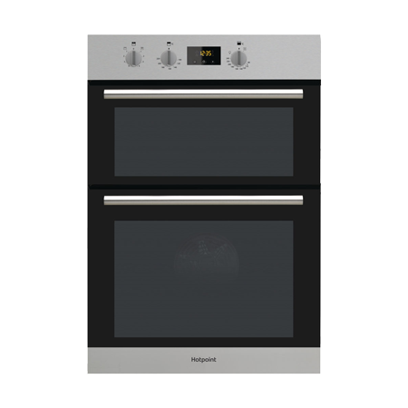 Hotpoint DD2540IX, Fan Assisted Electric Double Oven Stainless Steel with A/A Energy Rating