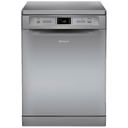 Hotpoint FDEF51110X, 60cm Freestanding Dishwasher in Silver.