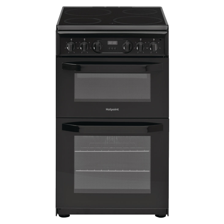 Hotpoint HD5V93CCB, Double Oven Electric Cooker with Ceramic Hob - Black - A Rated