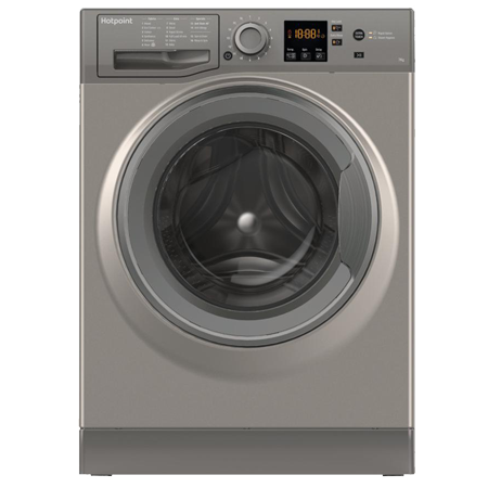 Hotpoint NSWE743UGG, 7 kg 1400 Spin Washing Machine - Graphite - A+++ Energy Rated