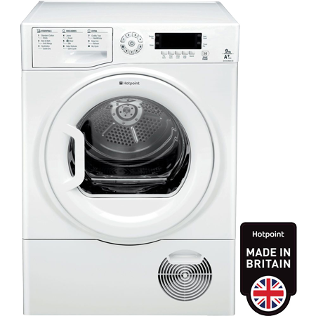 Hotpoint SUTCDGREEN9A1, 9kg Heat Pump Condenser Tumble Dryer with A+ Energy Rating & Sensor