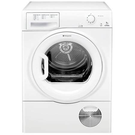 Hotpoint TCFM70C6PUK, Freestanding 7kg Condenser Dryer with C Energy Rating in White. Ex-Display Model