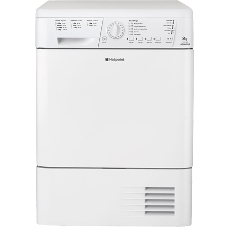 Hotpoint TCHL780BP, Freestanding 8kg Condenser Dryer