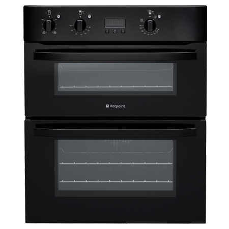Hotpoint UH53KS, Electric Double Oven in Black