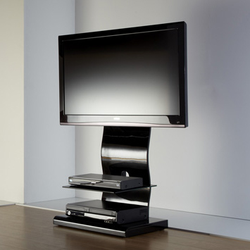 ICONIC IRINGA UKGL 510, Iringa Range Wave Cantilver Stand with Single Floating Shelf for Flat Screen TVs upto 50