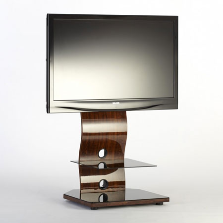 ICONIC IRINGA UKGL 510W, Iringa Range Wave Cantilver Stand with Single Floating Shelf for Flat Screen TVs upto 42 inch