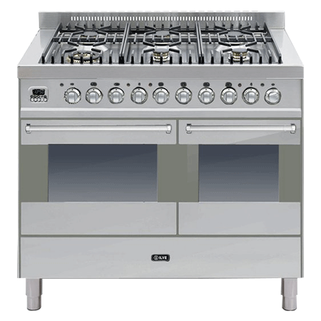 ILVE KD1006MP, 100cm Twin Dual Fuel Range Cooker with 6 Burner Hob (Choose from a variety of colours)
