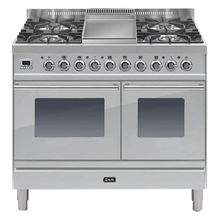 ILVE PDW1006E3, 100cm Twin Dual Fuel Range Cooker with 6 Gas burner Hob (Choose from a variety of colours)