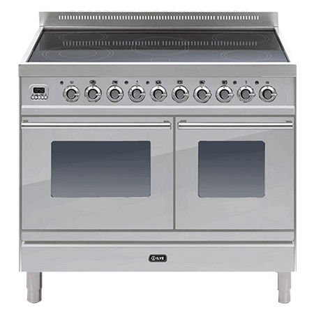 ILVE PDWI100E3, 100cm Twin Induction Range Cooker with 6 Zone Induction Hob (Choose from a variety of colours)
