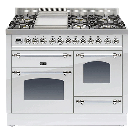 ILVE PTN110FE3, 110CM XG Dual Fuel Range Cooker with 6 Burner Fry Top (Choose from a variety of colours)