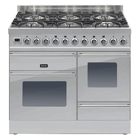 ILVE PTW1006E3, 100cm XG Dual Fuel Range Cooker with 6 Burner Hob (Choose from a variety of colours)