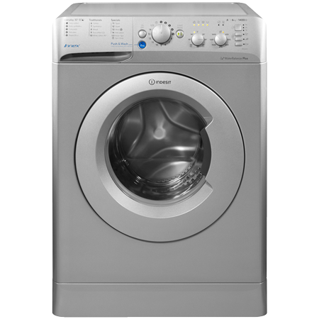 Indesit BWC61452SUK, 6kg  freestanding Washing Machine with 1400 rpm in Silver.