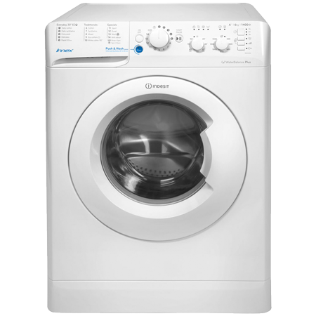 Indesit BWC61452WUK, 6kg  freestanding Washing Machine with 1400 rpm in  White.