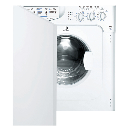 Indesit IWME127, Fully-Integrated 7kg 1200rpm Washing Machine