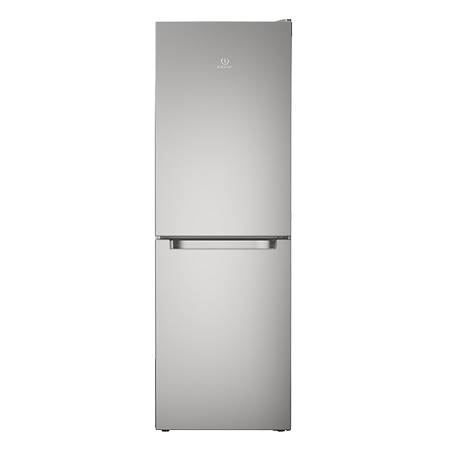 Indesit LD70N1S, Freestanding 60cm Fridge Freezer with A+ Energy Rating, Silver