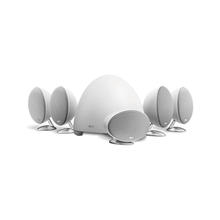 KEF E305B, 5.1 Home Theatre Speaker Package in White