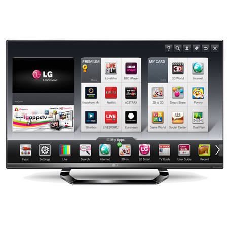 LG 42LM640T, 42 inch LED Cinema 3D Smart TV with 4x Pairs of Glasses,  Cinema Screen