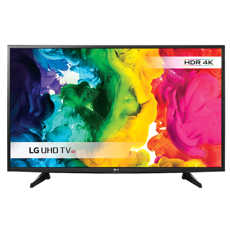LG 43UH610V, 43 Smart UHD 4K HDR Pro LED TV ULTRA Surround - with Freeview HD and Built-in Wi-Fi