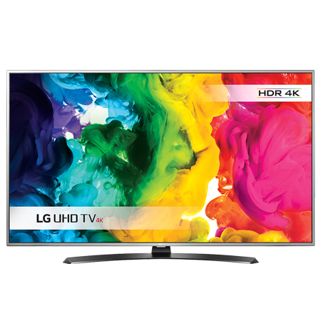 LG 55 4K LED TV, 55 UHD 4K HDR Pro LED Smart TV  ULTRA Luminance - with Freeview and Freesat - Silver.Ex-Display
