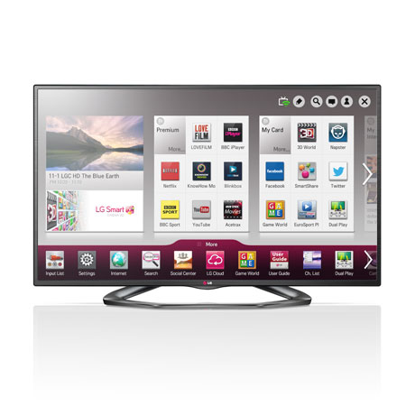 LG 55LA620V, 55 Full HD Cinema 3D Smart LED TV Freeview HD & Built-in Wi-Fi