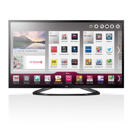 LG 55LA640V, 55 Full HD Cinema Screen 3D Smart Edge LED TV with Freeview HD & Built-in Wi-Fi