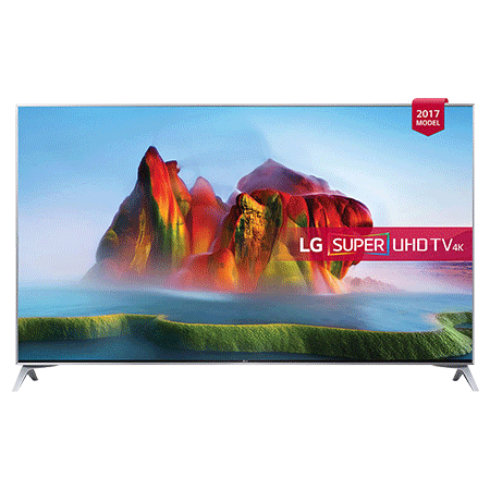 LG 55SJ800V, 55 Smart Ultra HD 4K LED TV with webOS 3.5, Freeview HD and Freesat HD & Built-In Wi-Fi