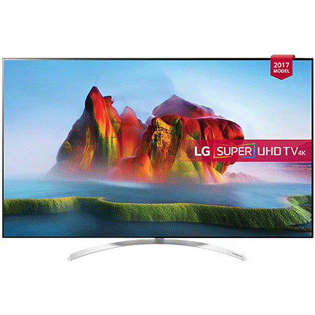 LG 55SJ850V, 55 Smart Ultra HD 4K LED TV with webOS 3.5, Freeview HD and Freesat HD & Built-In Wi-Fi