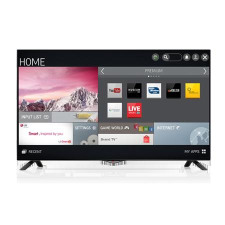 lg 55uf695v 55 smart uhd 4k led tv in black with freeview hd. Black Bedroom Furniture Sets. Home Design Ideas