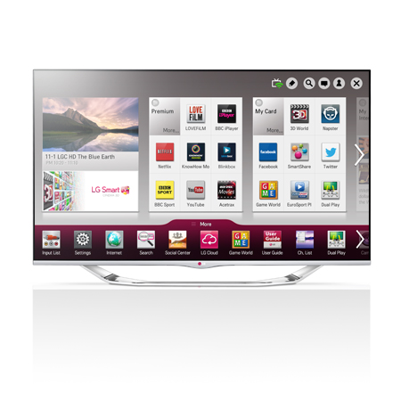LG 60LA740V, 60 Full HD Cinema Screen 3D Smart Edge LED TV with Freeview HD & Built-in Wi-Fi