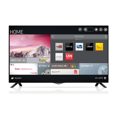 lg 60uf695v 60 smart uhd 4k led tv in black with freeview hd. Black Bedroom Furniture Sets. Home Design Ideas