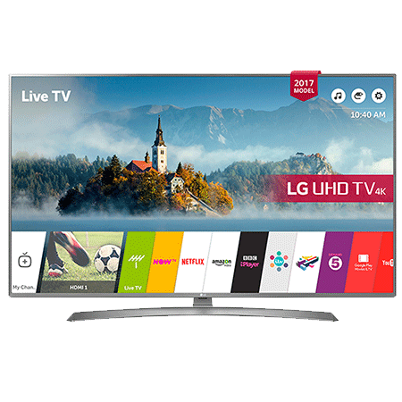 LG 65UJ670V, 65 Smart Ultra HD 4K LED TV with webOS 3.5, Freeview HD and Freesat HD & Built-In Wi-Fi