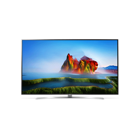 LG 75SJ955V, 75 Smart UHD 4k LED TV BlackSilver with Freeview HD and Freesat HD, webOS 3.5 & Dolby Vision