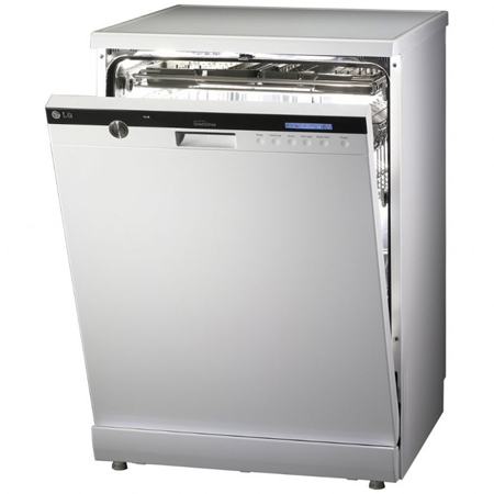LG D1453WF, Direct Drive Dishwasher with SmartRack Technology in White.Ex-Display