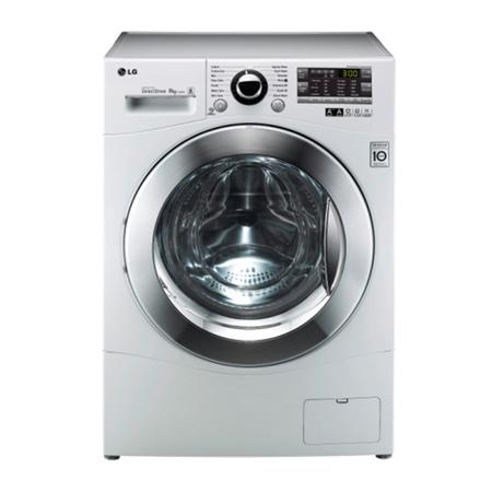 LG F12A8TDA, 8KG 6 Motion DD Washing Machine with Stylish Chrome Door - A+++ Energy Rating.Ex-Display