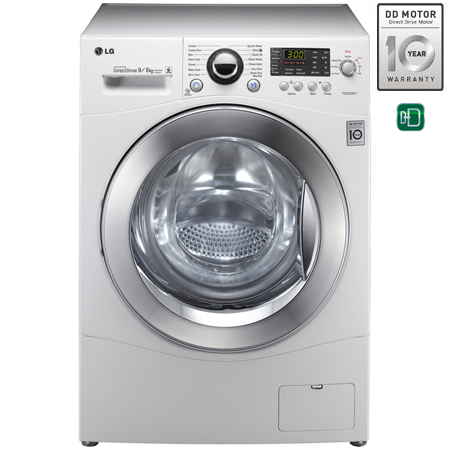 LG F1480RD, Direct Drive 9kg Washer 6kg Dryer.