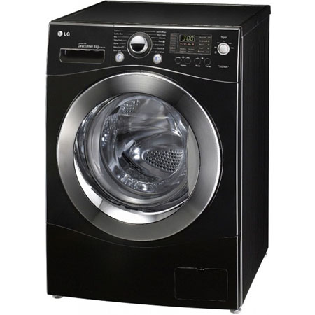 Lg f1480td6 8kg direct drive washing machine in black for Lg direct drive motor