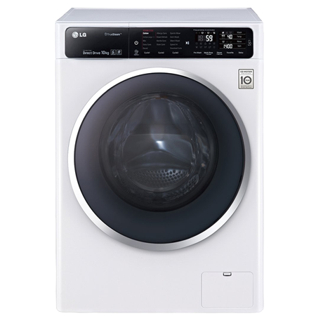 LG F14U1JBS2, 10kg 6 Motion Direct Drive Washing Machine with A+++ Energy Rating - White