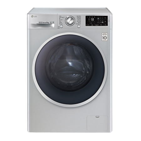 LG F14U2TDN5, Freestanding 8 Kg 1400 rpm Smart Washing Machine with A+++ Energy Rating - Silver