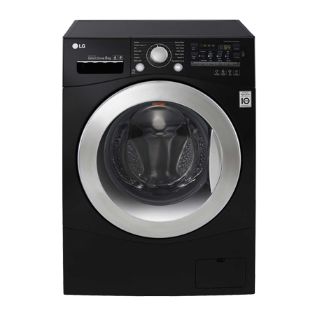 LG FH2A8TDN8, Freestanding Smart Washing Machine Black