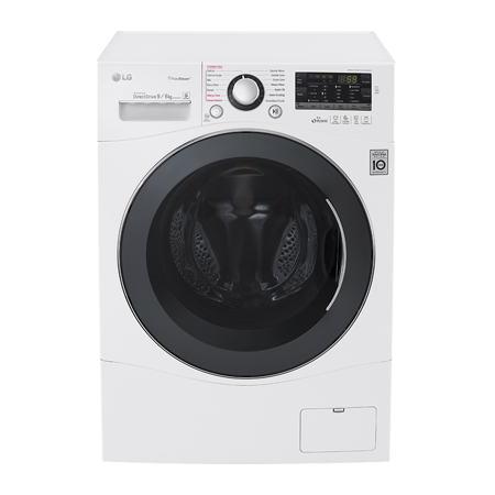 LG FH4A8FDH2N, 9kg Washer / 6kg Dryer with Truesteam & 6 Motion Direct Drive