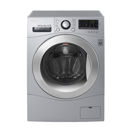LG FH4A8TDN4, Freestanding 8 Kg 1400 rpm Smart Washing Machine with A+++ Energy Rating - Silver